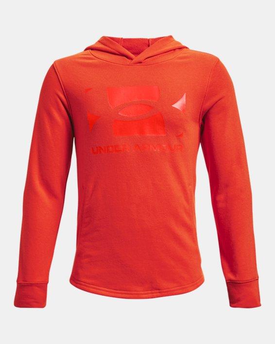 Boys' UA Rival Terry Hoodie, Orange, pdpMainDesktop image number 0