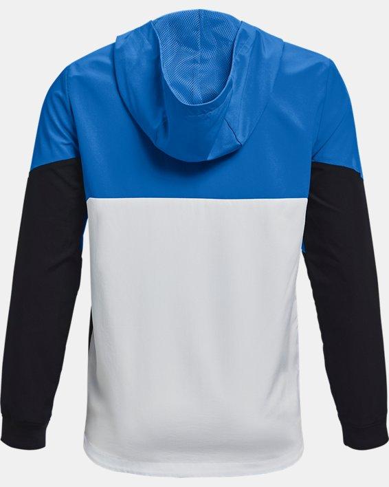 Boys' UA Legacy Windbreaker Jacket, Blue, pdpMainDesktop image number 1