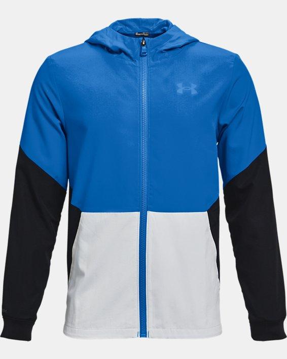 Boys' UA Legacy Windbreaker Jacket, Blue, pdpMainDesktop image number 0