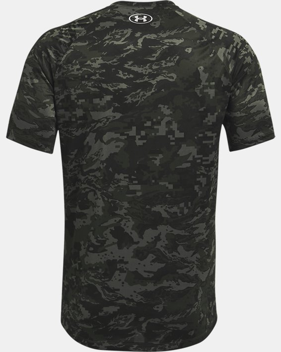 Men's UA Tech™ ABC Camo Short Sleeve, Gray, pdpMainDesktop image number 5