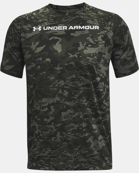 Men's UA Tech™ ABC Camo Short Sleeve, Gray, pdpMainDesktop image number 4