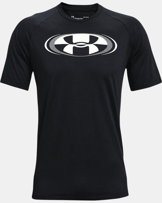 Men's UA Tech™ 2.0 Circuit Short Sleeve, Black, pdpMainDesktop image number 4