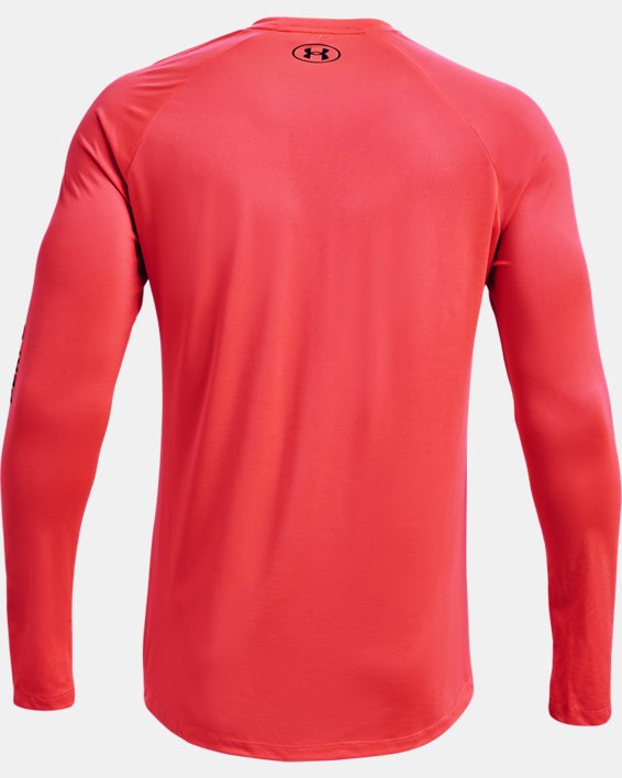 Men's UA Tech™ 2.0 Originators Of Performance Long Sleeve, Red, pdpMainDesktop image number 5
