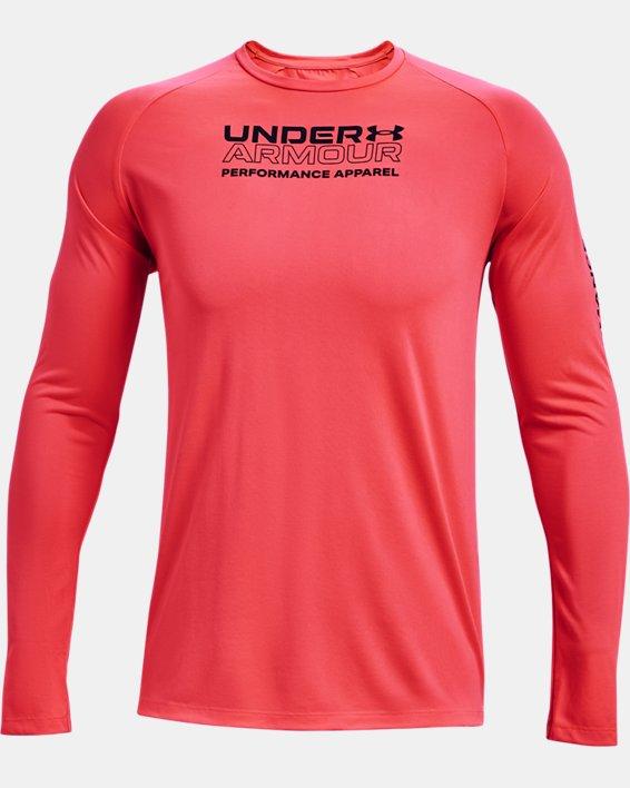 Men's UA Tech™ 2.0 Originators Of Performance Long Sleeve, Red, pdpMainDesktop image number 4