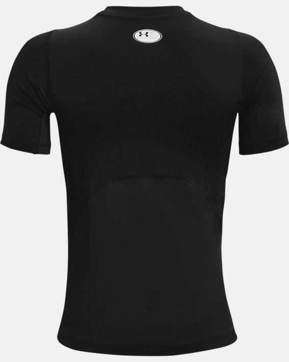 Boys' HeatGear® Armour Short Sleeve, Black, pdpMainDesktop image number 1