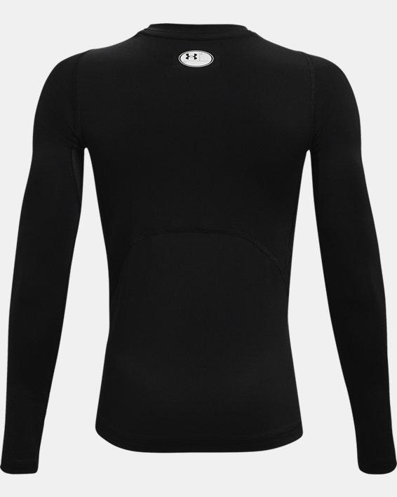 Boys' HeatGear® Armour Long Sleeve, Black, pdpMainDesktop image number 1