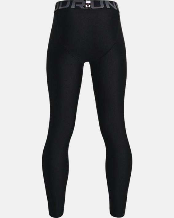 Boys' HeatGear® Armour Leggings, Black, pdpMainDesktop image number 1