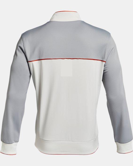 Men's Project Rock Knit Track Jacket, White, pdpMainDesktop image number 4