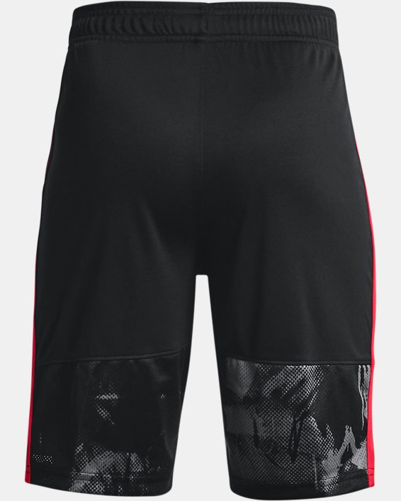 Boys' UA Stunt 3.0 Printed Shorts, Black, pdpMainDesktop image number 1