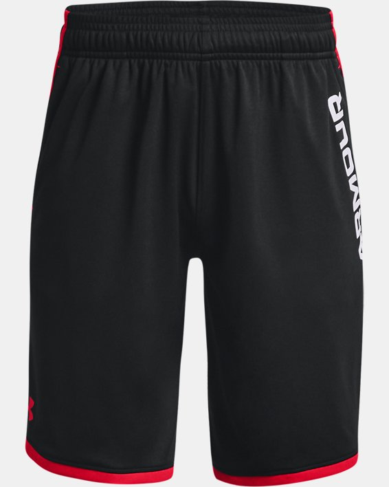 Boys' UA Stunt 3.0 Printed Shorts, Black, pdpMainDesktop image number 0