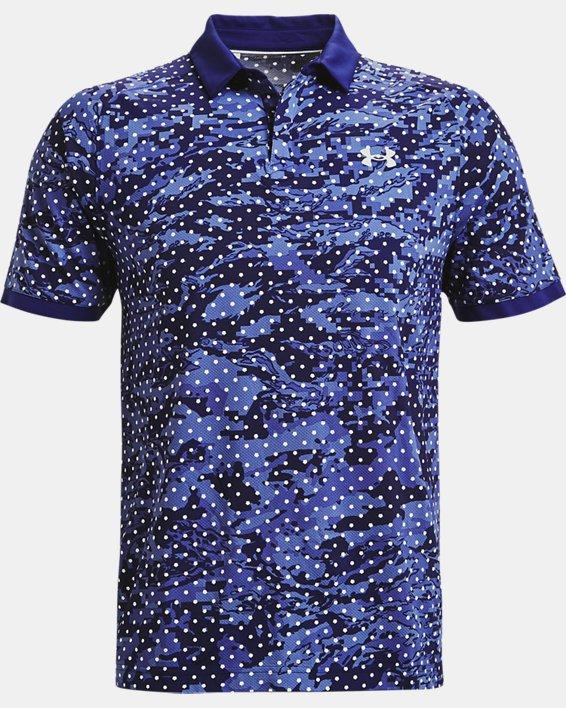 Men's UA Iso-Chill Penta Dot Polo, Blue, pdpMainDesktop image number 3
