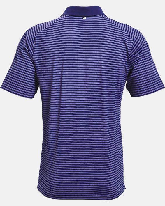 Men's UA Iso-Chill Hollen Stripe Polo, Blue, pdpMainDesktop image number 4