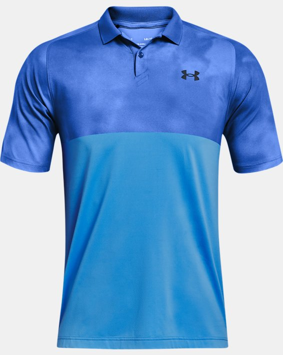 Men's UA Iso-Chill Afterburn Polo, Blue, pdpMainDesktop image number 3