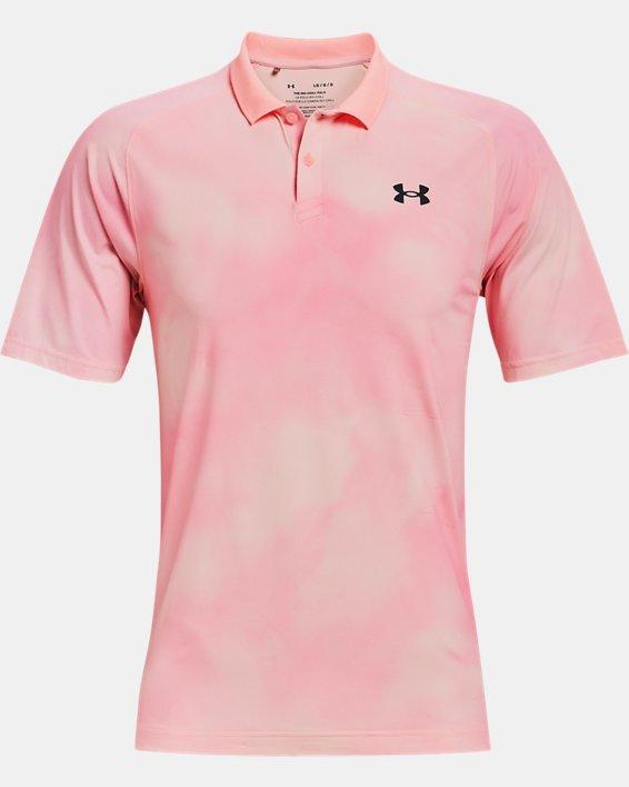 Herren UA Iso-Chill Afterburn Poloshirt, Pink, pdpMainDesktop image number 3