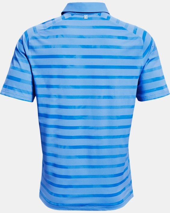 Men's UA Iso-Chill Floral Stripe Polo, Blue, pdpMainDesktop image number 4
