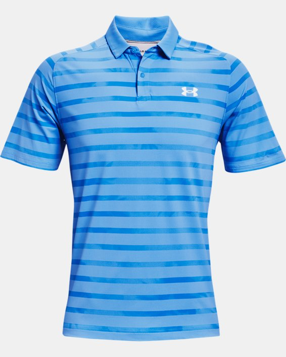 Men's UA Iso-Chill Floral Stripe Polo, Blue, pdpMainDesktop image number 3