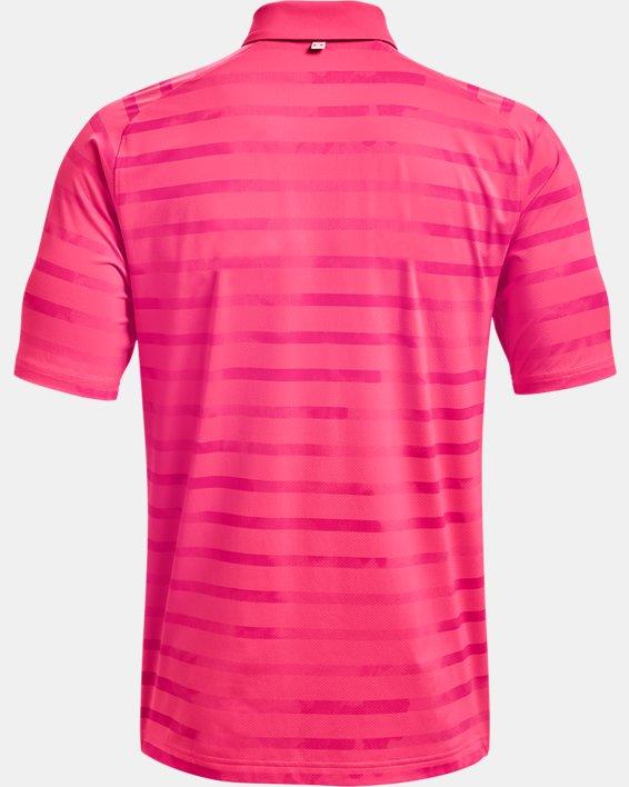 Men's UA Iso-Chill Floral Stripe Polo, Pink, pdpMainDesktop image number 4