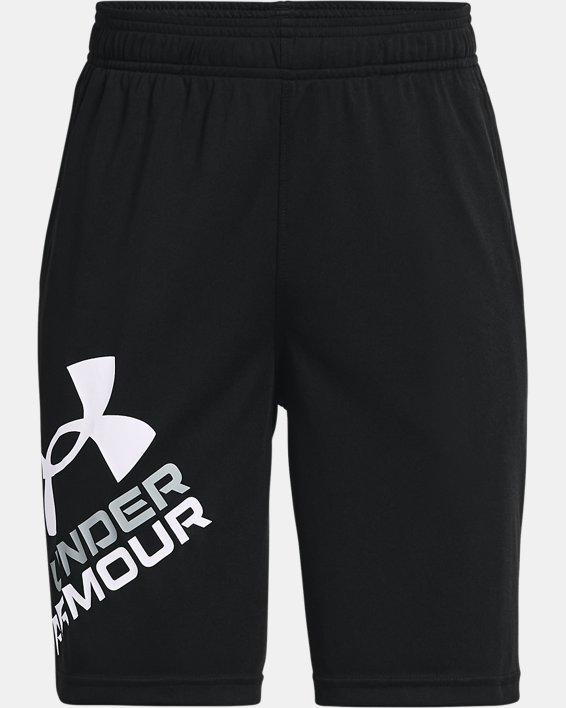 Boys' UA Prototype 2.0 Logo Shorts, Black, pdpMainDesktop image number 0