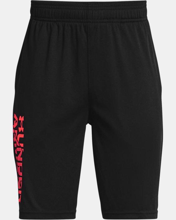 Boys' UA Prototype 2.0 Wordmark Shorts, Black, pdpMainDesktop image number 0