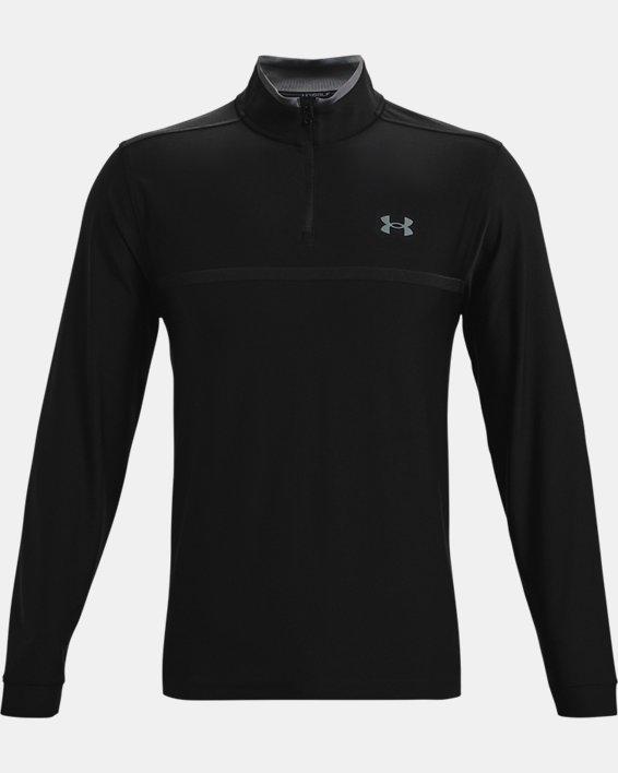 Men's UA Playoff 2.0 ¼ Zip, Black, pdpMainDesktop image number 3