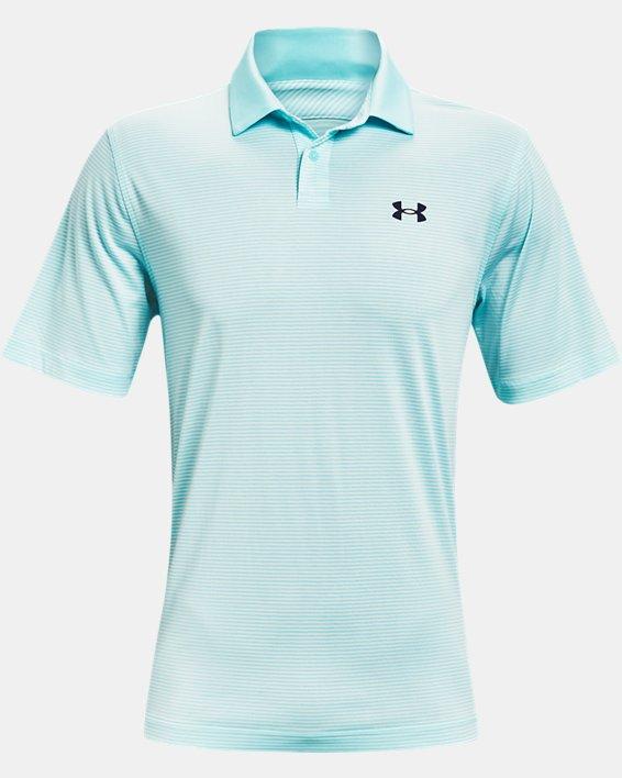 Men's UA Performance Stripe Polo, Blue, pdpMainDesktop image number 4