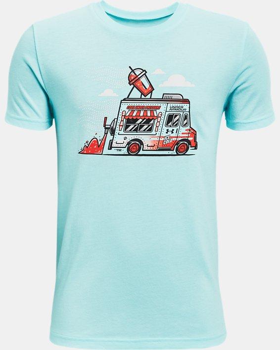 Boys' UA Ice Cream Truck Short Sleeve, Blue, pdpMainDesktop image number 0