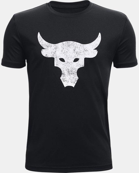 Jungen Project Rock Brahma Bull Kurzarm-Oberteil, Black, pdpMainDesktop image number 0