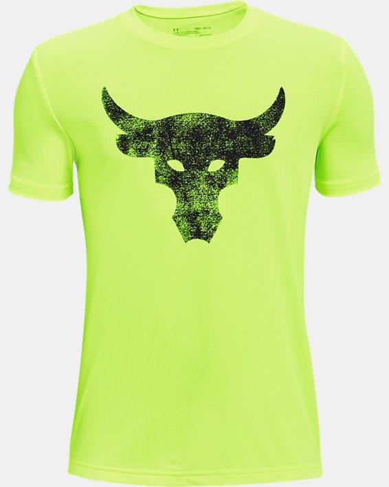 Boys' Project Rock Brahma Bull Short Sleeve, Yellow, pdpMainDesktop image number 0