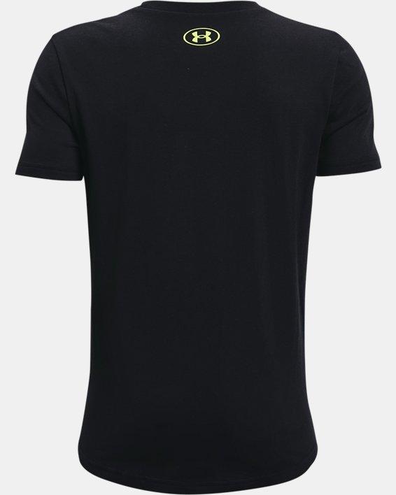 Boys' Project Rock BSR Short Sleeve, Black, pdpMainDesktop image number 1