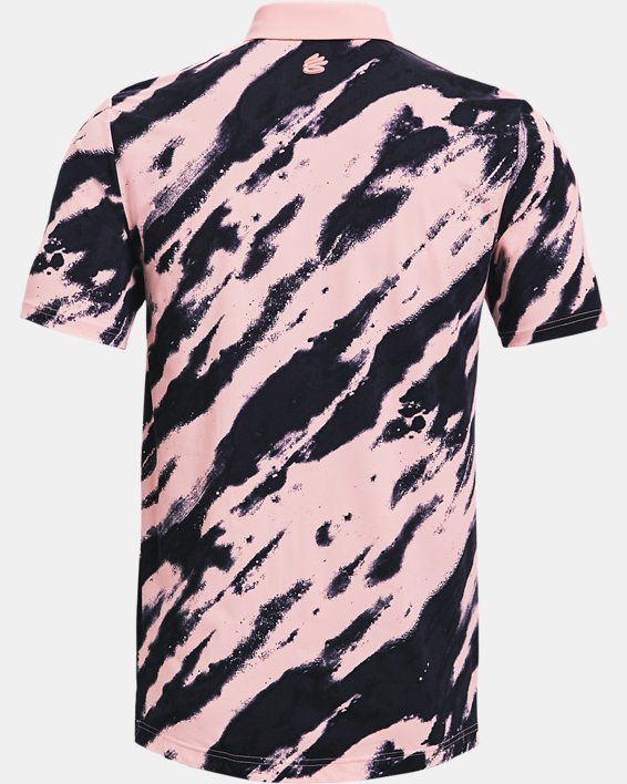 Men's Curry Vanish Printed Polo, Pink, pdpMainDesktop image number 4