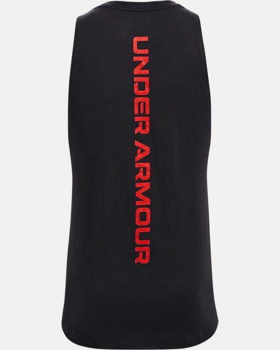 Men's UA Baseline Cotton Tank, Black, pdpMainDesktop image number 5