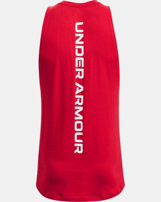 Men's UA Baseline Cotton Tank, Red, pdpMainDesktop image number 5