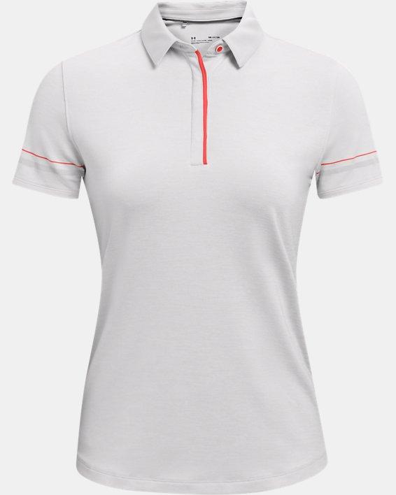 Women's UA Zinger Heathered Short Sleeve Polo, Gray, pdpMainDesktop image number 3