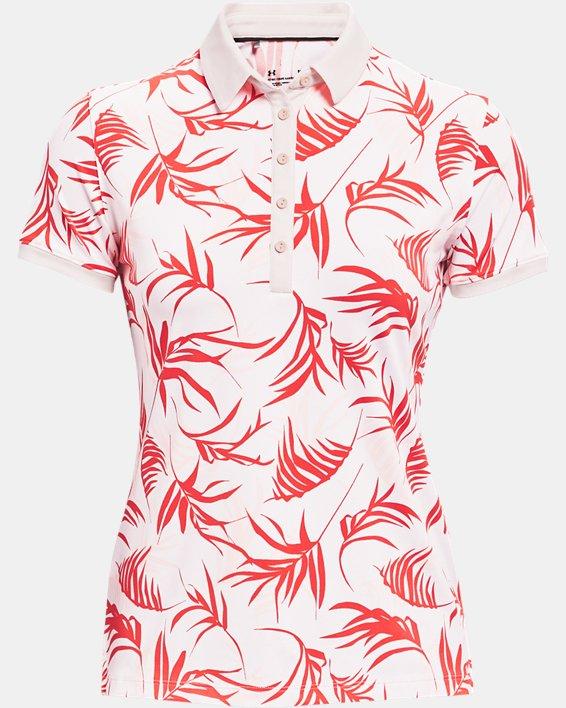 Women's UA Zinger Short Sleeve Polo, White, pdpMainDesktop image number 4