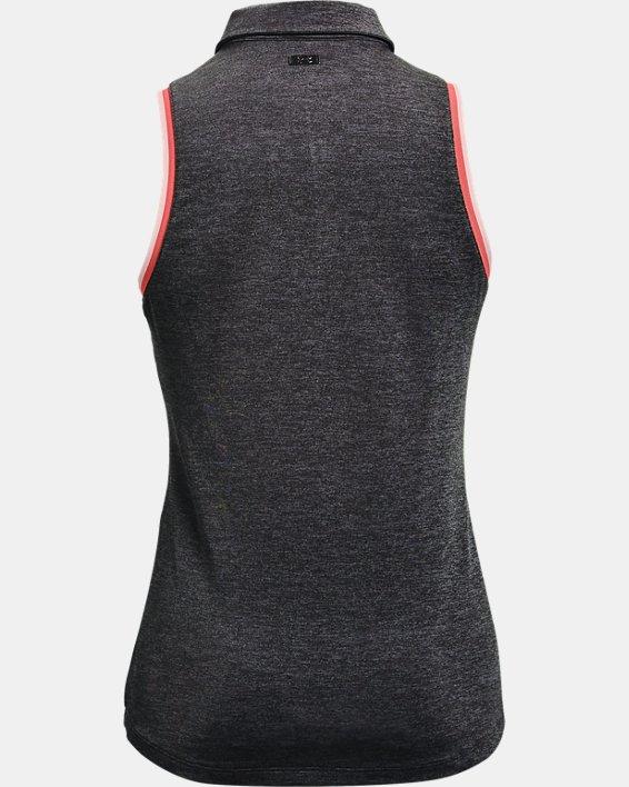 Women's UA Zinger Sleeveless Tipped Polo, Gray, pdpMainDesktop image number 4