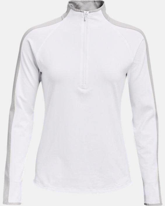 Damen UA Storm Midlayer mit ½ Zip, White, pdpMainDesktop image number 4