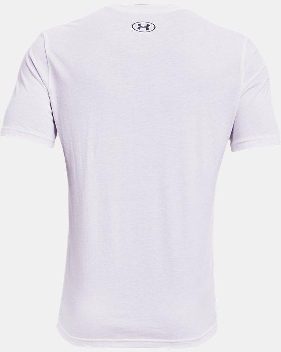 Men's UA Hoops Summer Daze T-Shirt, White, pdpMainDesktop image number 5