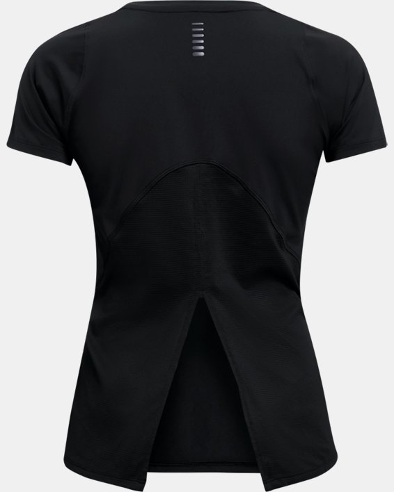 Women's UA Iso-Chill Run Short Sleeve, Black, pdpMainDesktop image number 7
