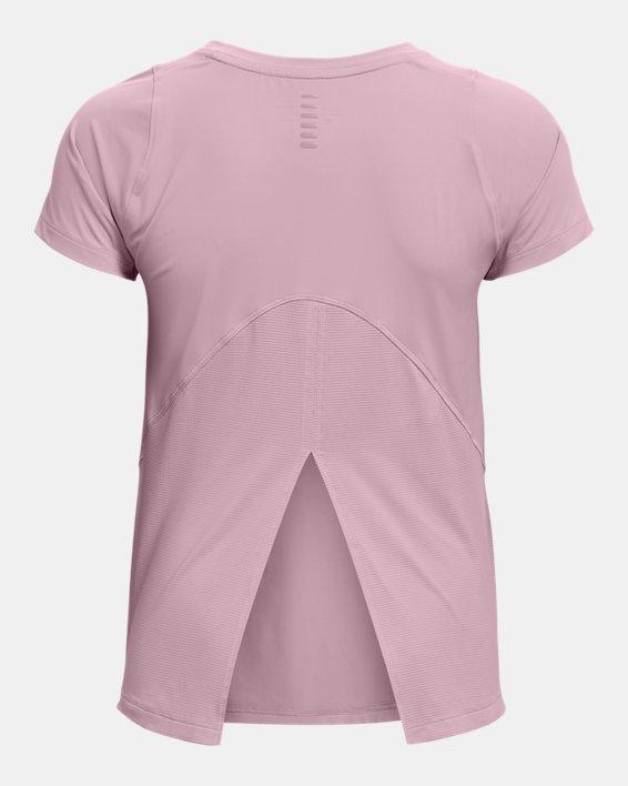 Women's UA Iso-Chill Run Short Sleeve, Pink, pdpMainDesktop image number 4