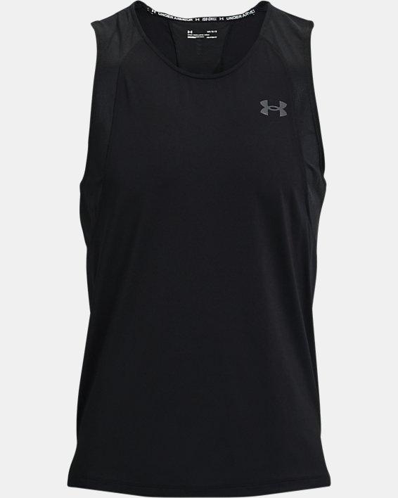 Men's UA Iso-Chill Run Singlet, Black, pdpMainDesktop image number 4