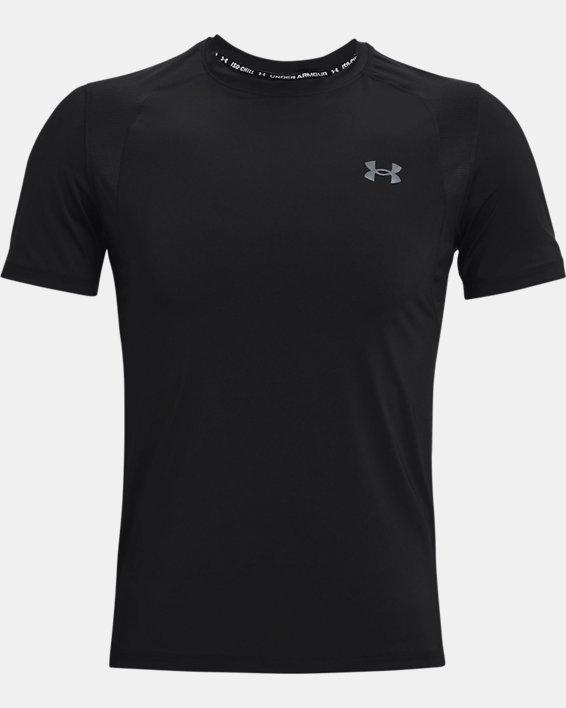 Men's UA Iso-Chill Run Short Sleeve, Black, pdpMainDesktop image number 6