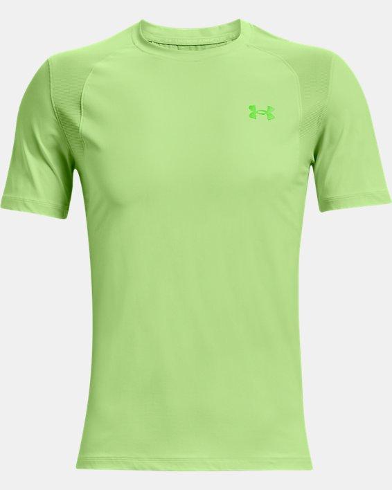Men's UA Iso-Chill Run Short Sleeve, Green, pdpMainDesktop image number 5