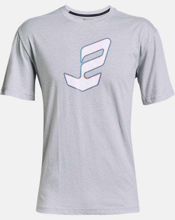 Men's UA Embiid Logo T-Shirt, Gray, pdpMainDesktop image number 4
