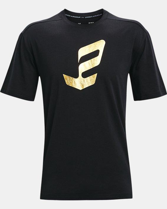 Men's UA Embiid Gold Mine T-Shirt, Black, pdpMainDesktop image number 3