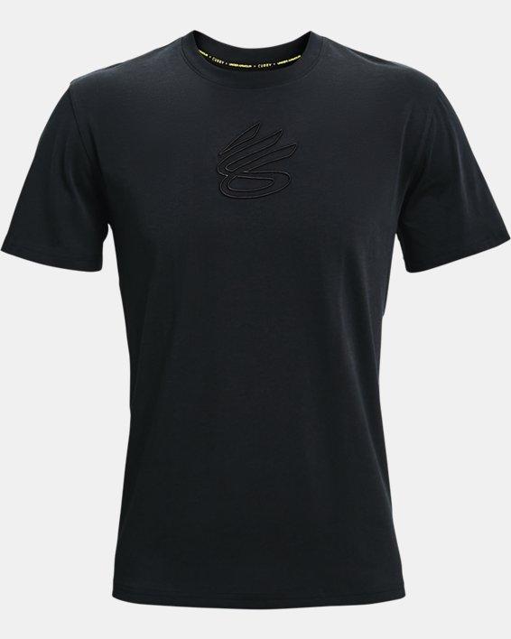 Men's Curry Embroidered UNDRTD T-Shirt, Black, pdpMainDesktop image number 4