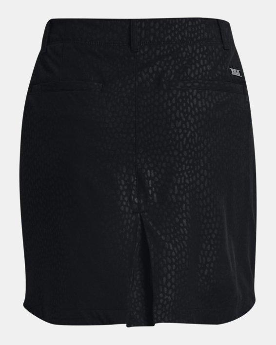 Women's UA Links Woven Printed Skort, Black, pdpMainDesktop image number 4
