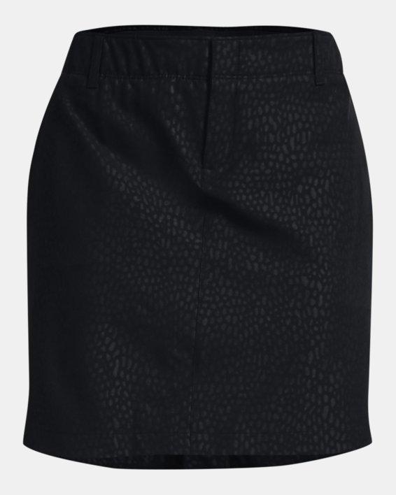 Women's UA Links Woven Printed Skort, Black, pdpMainDesktop image number 3