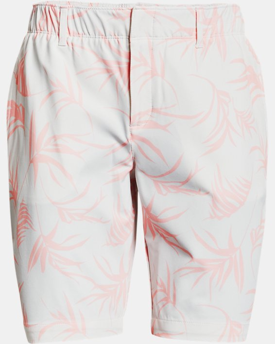Women's UA Links Printed Shorts, White, pdpMainDesktop image number 4