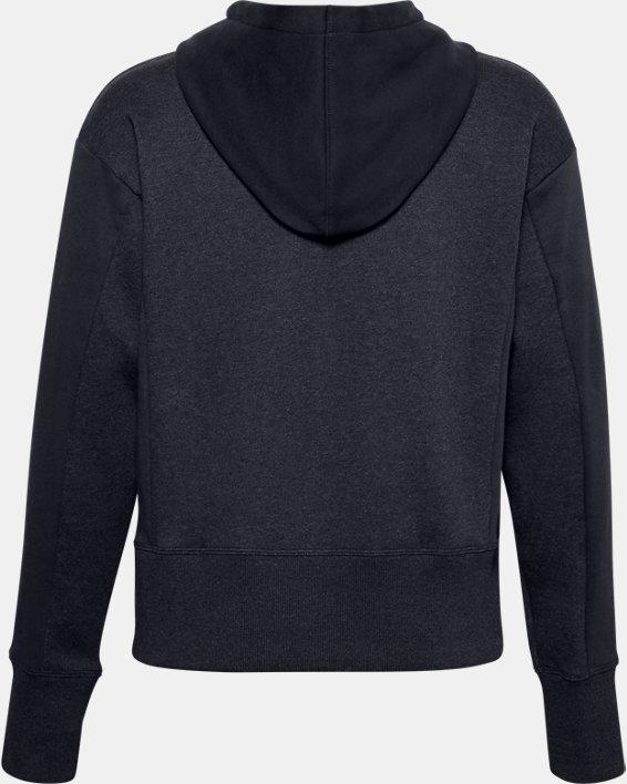 Women's UA Rival Fleece Embroidered Full Zip Hoodie, Black, pdpMainDesktop image number 6