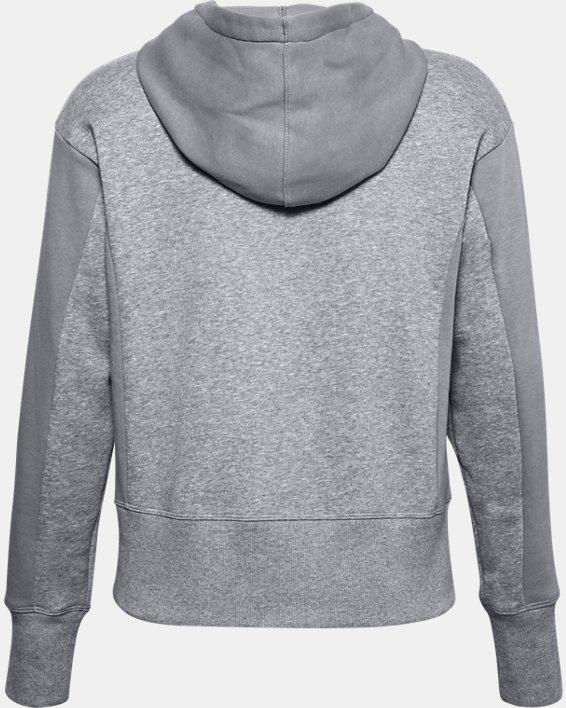 Women's UA Rival Fleece Embroidered Full Zip Hoodie, Gray, pdpMainDesktop image number 6